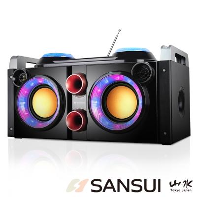 山水SANSUI音霸藍芽/廣播/USB/AUX/卡拉OK隨身音響(SBK777)