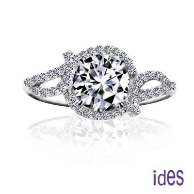 ides愛蒂思 GIA鑑定1克拉F/SI1八心八箭完美3EX車工鑽石戒指