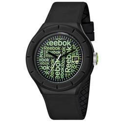 Reebok WarmUP Wallpaper時尚腕錶-綠x黑/42mm