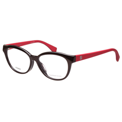 FENDI 時尚光學眼鏡 (深咖啡色)FF0044F