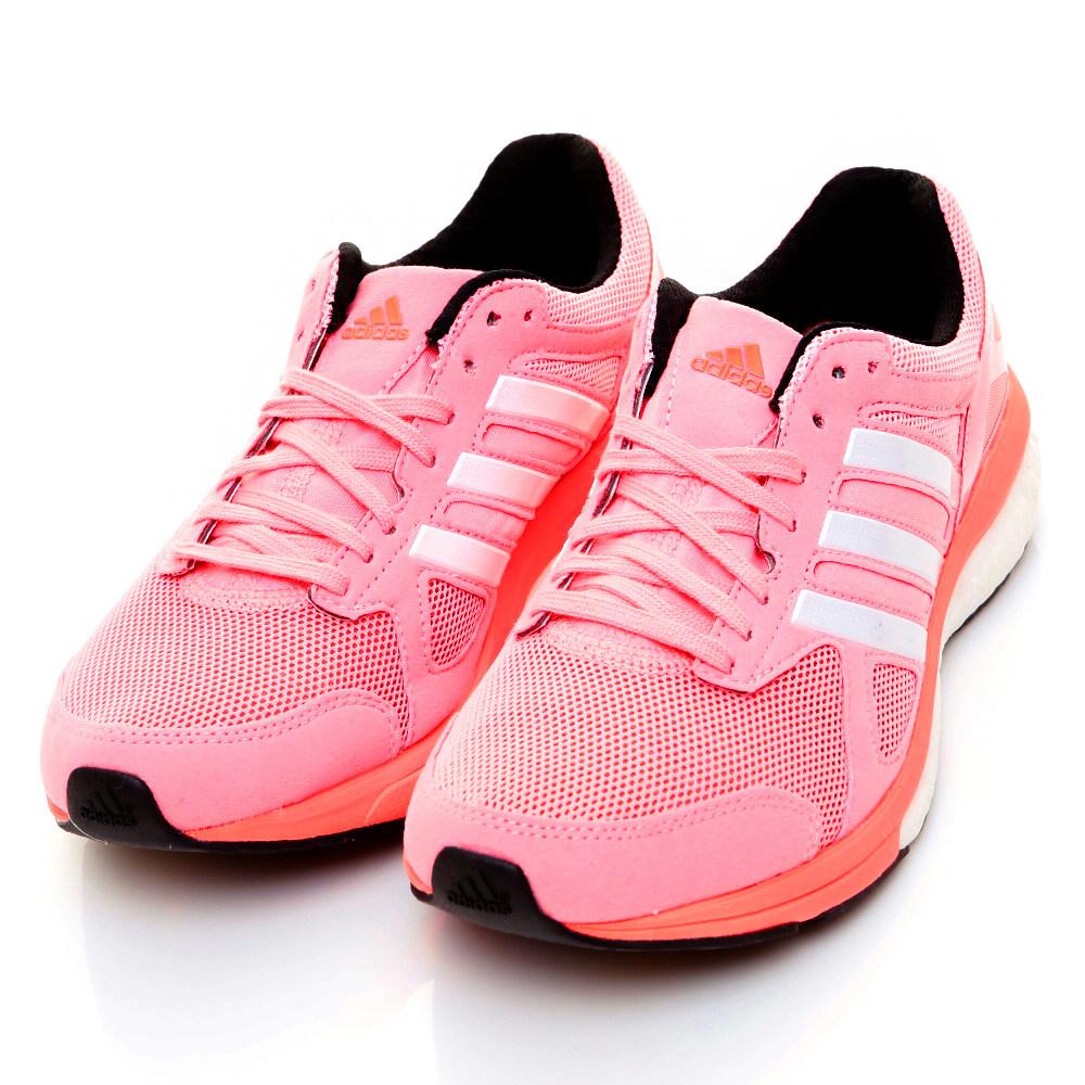 ADIDAS-ADIZERO女慢跑鞋-粉紅