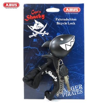 ABUS 德國防盜鎖  1510  Captn Sharky  60 cm鯊魚造型頭單車鑰匙鎖-黑