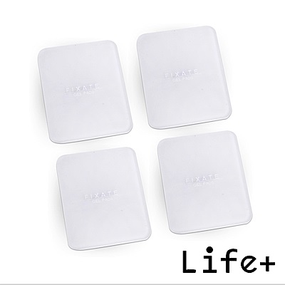 Life Plus 無痕隨行矽膠貼墊/萬用貼/隨手貼 (透明-方形)X4