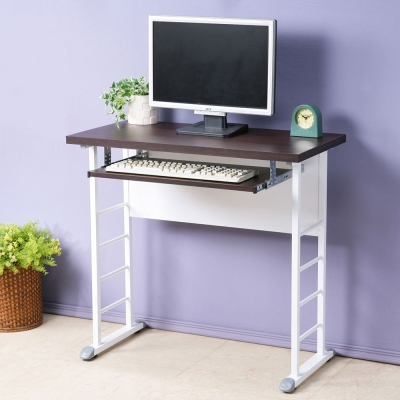 Homelike 查理80x40工作桌-加厚桌面(附鍵盤架)