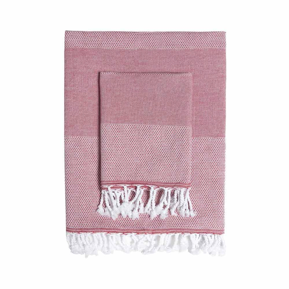 TAMA 天然純淨頂級土耳其手工平織薄巾/毛巾組(威尼斯紅火)
