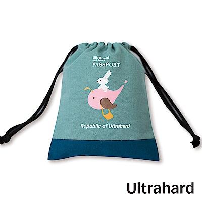 Ultrahard 月見兔束口收納袋-騎鯨魚(藍)