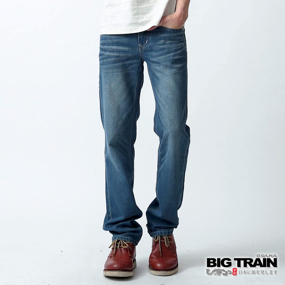 BIG TRAIN 後袋小骷髏小直筒-男-深藍
