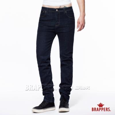 BRAPPERS 男款 HM中腰系列-男用中腰彈性直統褲-深藍