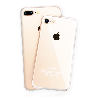 Bravo-u iPhone8 Plus 5.5吋超柔韌PC強化水晶保護硬殼