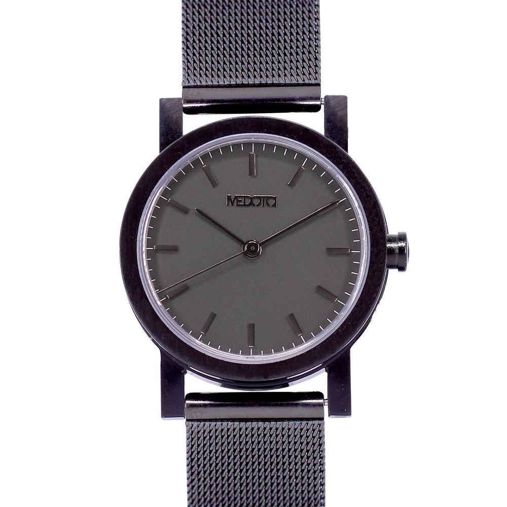 MEDOTA 極簡輕薄手錶- 倒影系列 – 女錶 黑色/30mm