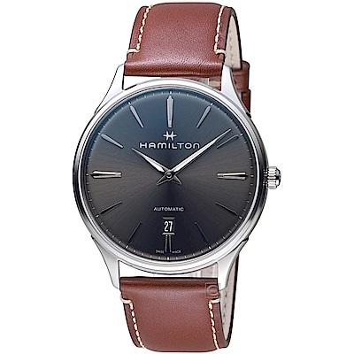 Hamilton漢米爾頓紐約星嵐系列極簡時尚機械腕錶(H38525881)-40mm/灰