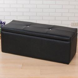 精緻編織皮掀蓋椅/收納椅(寬102公分)
