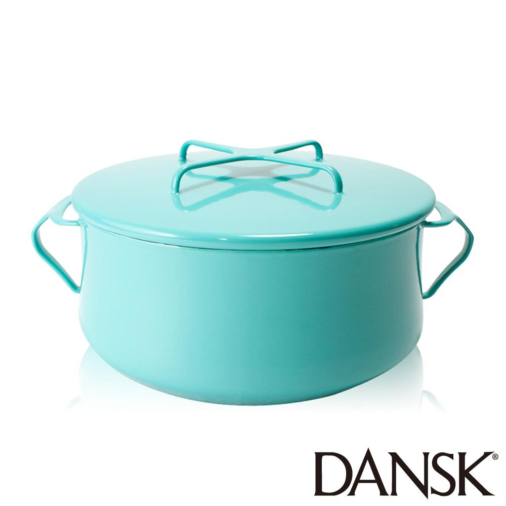 丹麥DANSK 琺瑯雙耳湯鍋18.5CM(湖水綠)