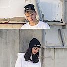 DADA SUPREME 潮流釦環裝飾毛帽-男女-黑
