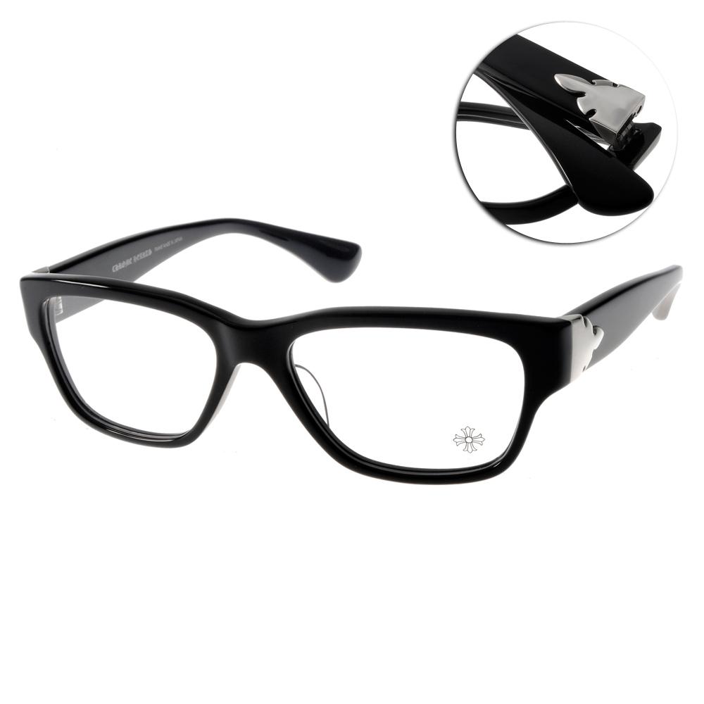 Chrome Hearts眼鏡 頂級銀飾/黑#HAPPY VALLEY-A BK