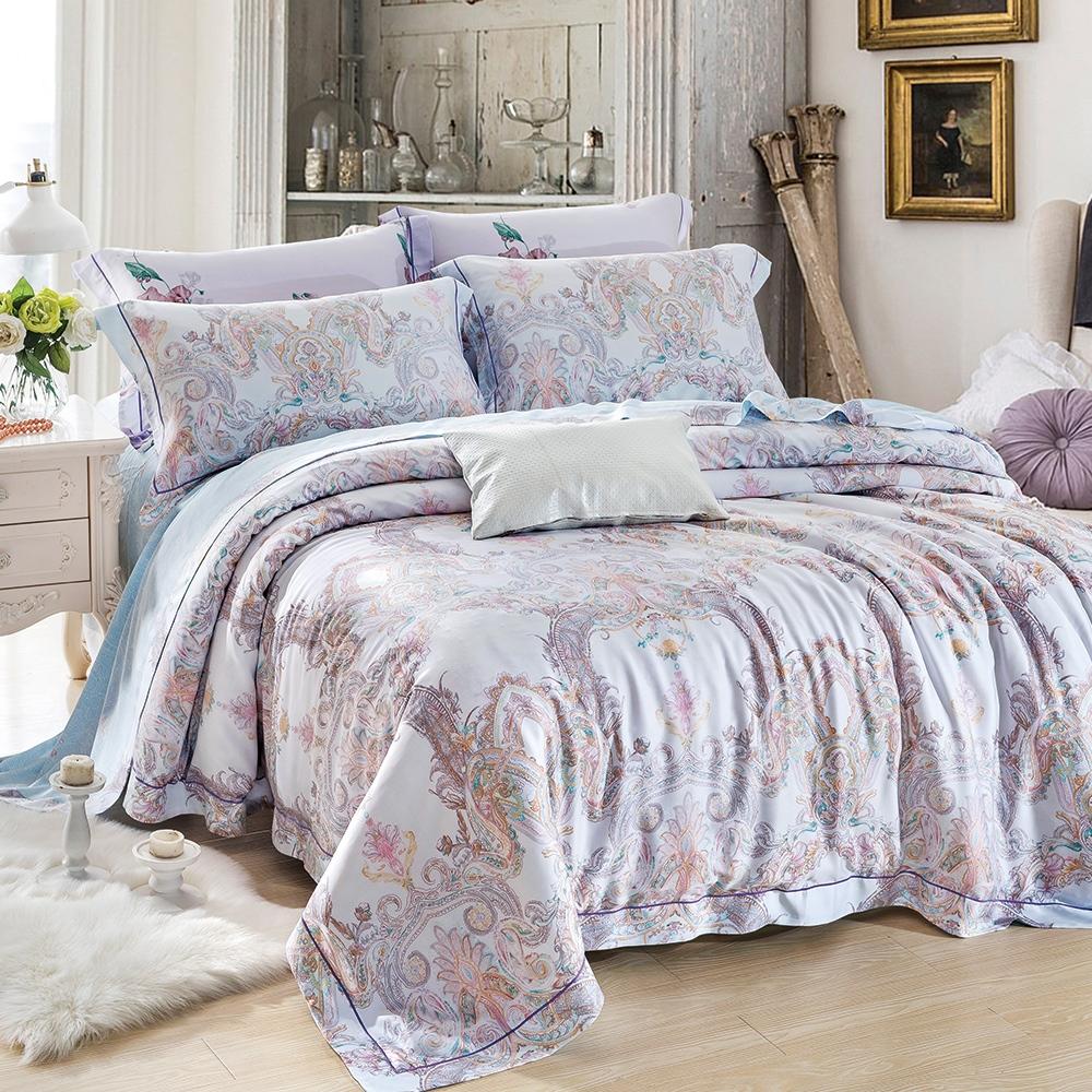 Lily Royal 60支頂級天絲 六件式兩用被床罩組 雙人 赫本
