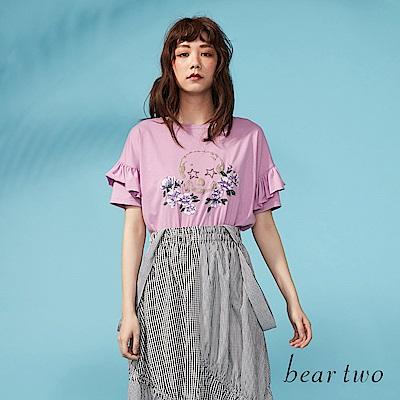 beartwo 經典骷髏刺繡花卉造型上衣(三色)