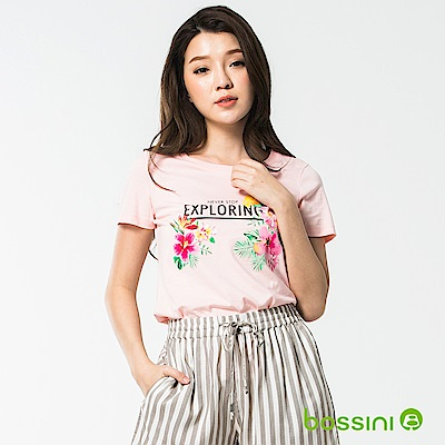 bossini女裝-印花短袖T恤39嫩粉
