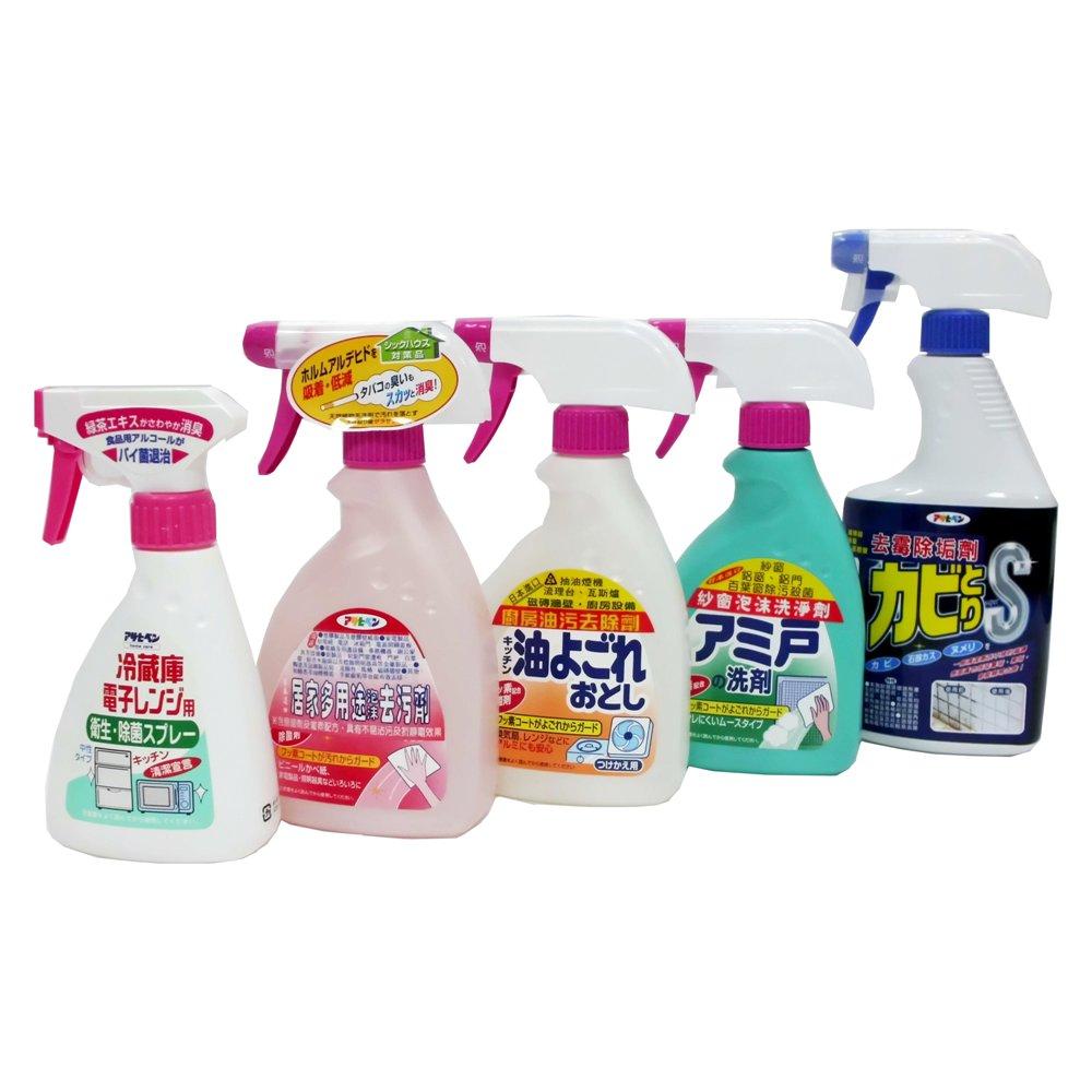 日本進口-大掃除清潔超值組合(5款入)