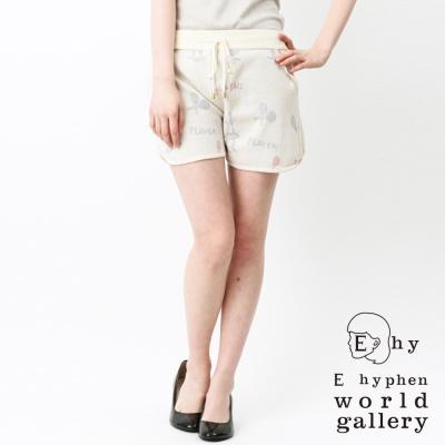 E hyphen world gallery 網球女孩打印針織短褲