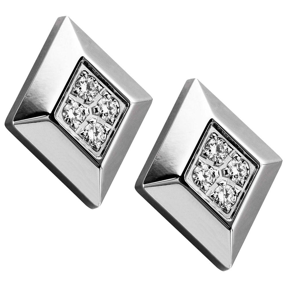 ROYAL DAMON 羅亞戴蒙 完美層次耳環-晶鑽銀