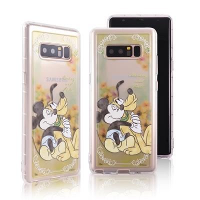 Disney迪士尼 三星 Note 8 水彩渲染花園防摔氣墊空壓保護套