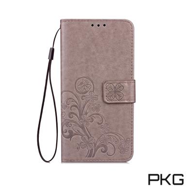PKG ASUS Zenfone4 MAX ZC554KL側翻磁扣皮套-幸運草-...