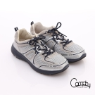 Comphy 3D氣動鞋 全真皮透氣網布運動男鞋 淺灰色