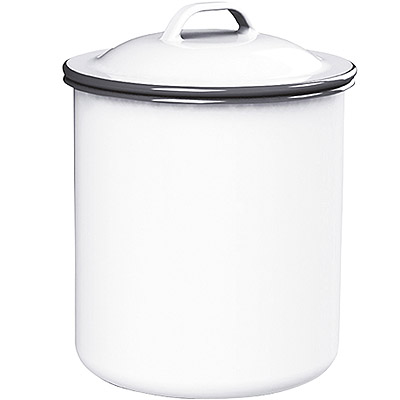 KitchenCraft 復古琺瑯收納罐(白1000ml)