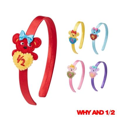 WHY AND 1/2 愛心普普熊髮箍 多色可選