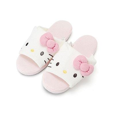 Sanrio HELLO KITTY可愛大臉毛巾布室內拖鞋