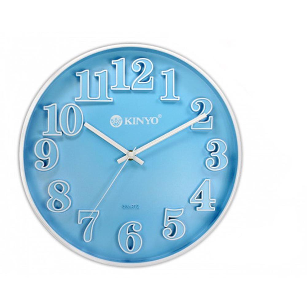 KINYO 12吋繽紛立體靜音掛鐘(CL124)