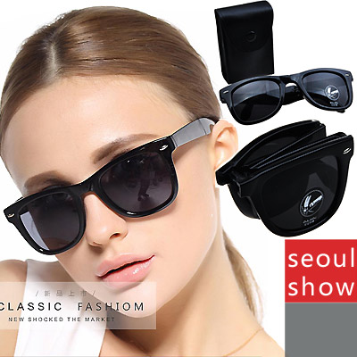 Seoul Show 摺疊墨鏡太陽眼鏡 黑色