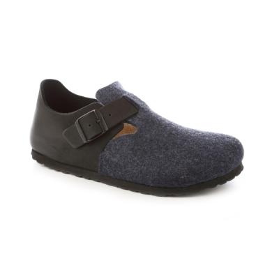 勃肯BIRKENSTOCK 166583。倫敦扣帶休閒鞋(黑藍搭色)