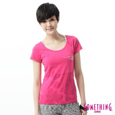 SOMETHING-T恤-成品意境印花T恤-女-玫