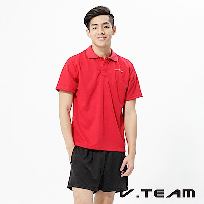 VTEAM 吸排POLO衫-紅色