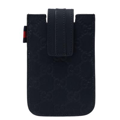 GUCCI 經典guccissima牛皮IPHONE4/4S手機保護套(深藍)