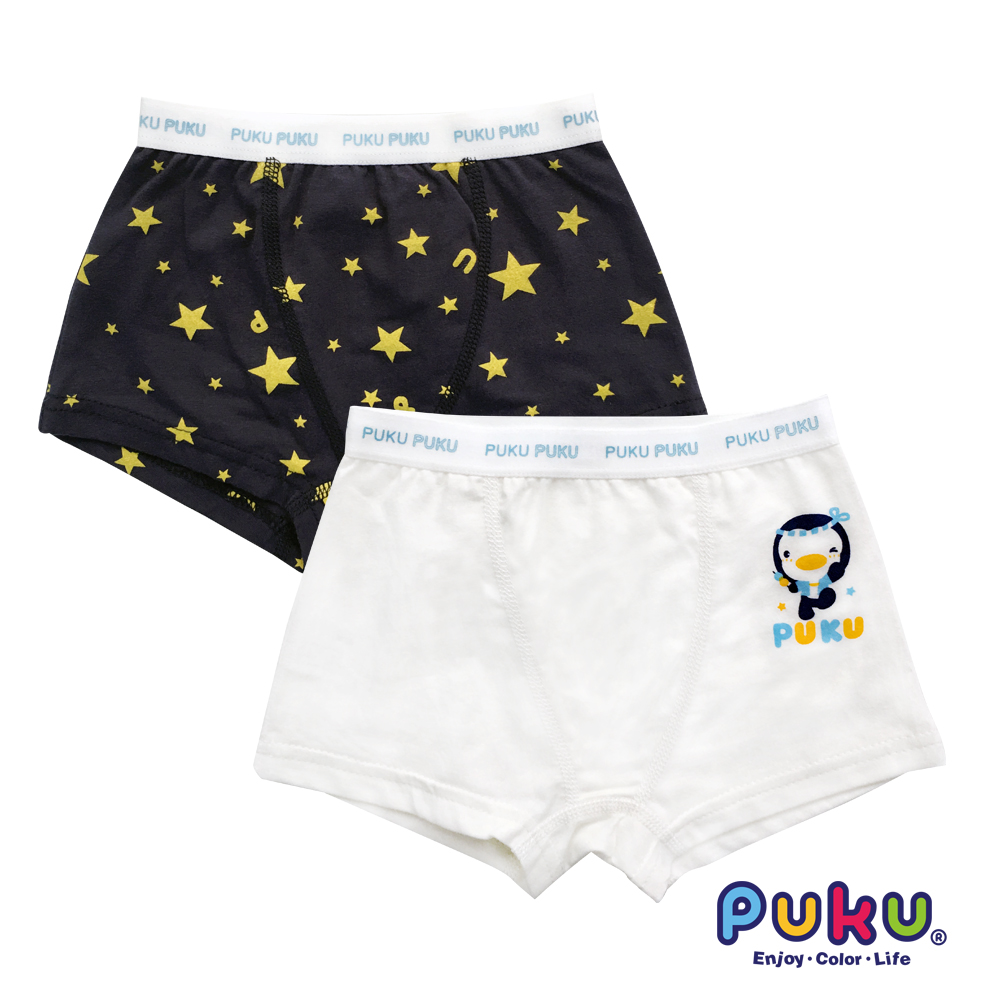 PUKU藍色企鵝 男Star彈性四角內褲2入(SS~XL)