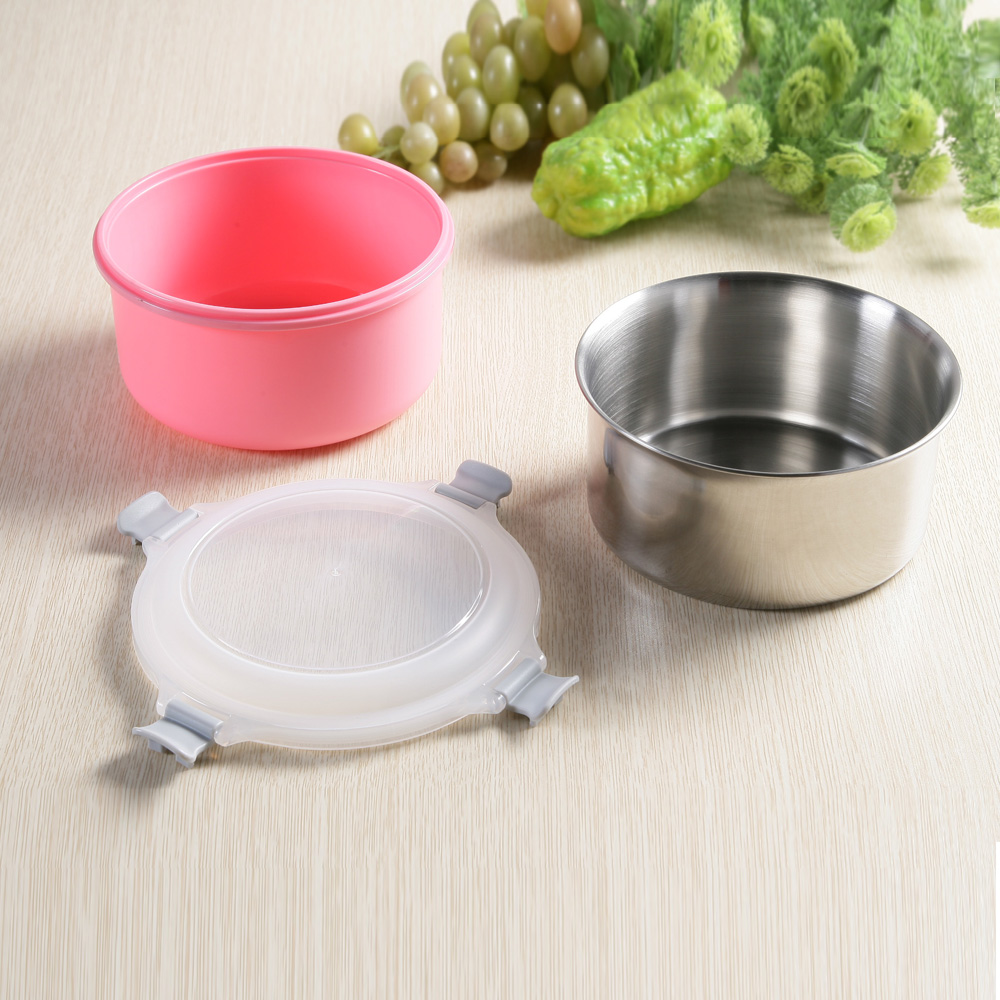 創意達人xUdlife藏鮮第二代圓形保鮮隔熱環保餐盒1入組