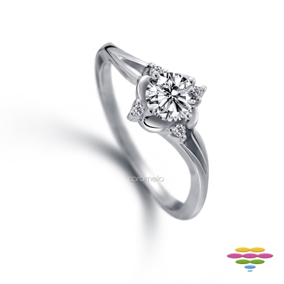 彩糖鑽工坊 19分鑽石戒指 真愛之泉系列