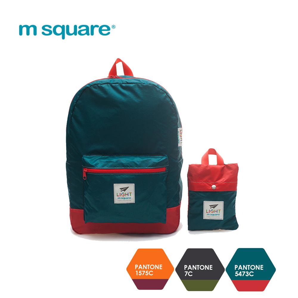 m square 輕量摺疊雙肩後背包