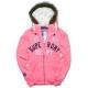 Superdry 極度乾燥 貼布繡金蔥刷毛外套-螢光粉紅 product thumbnail 1