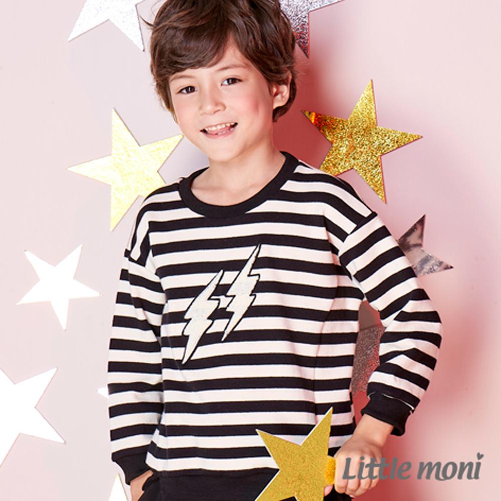 Little moni 條紋毛巾繡上衣 (共2色)