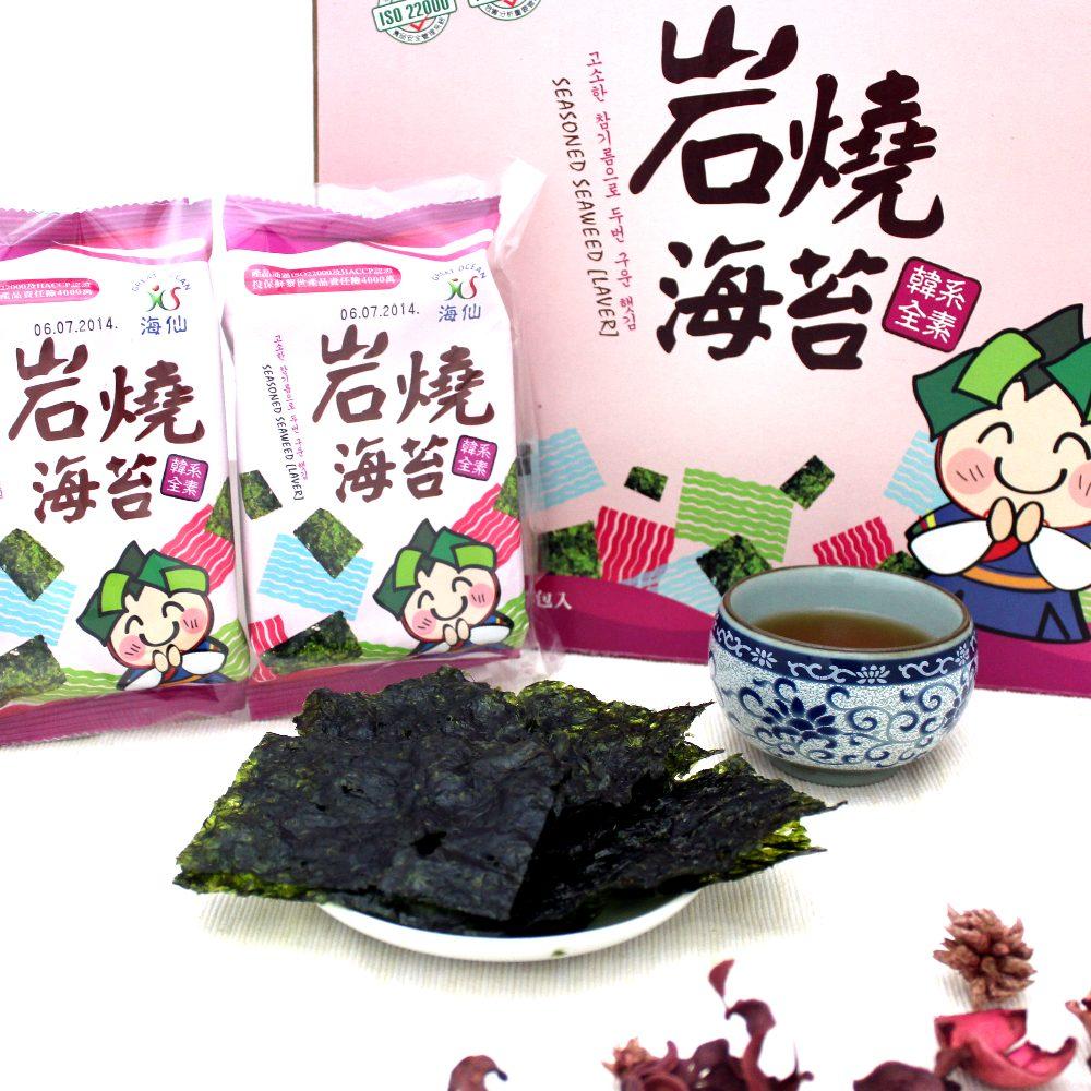 海仙 韓系岩燒海苔禮盒(18入)