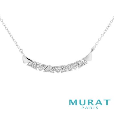 MURAT Paris米哈巴黎 交疊三角曲線項鍊