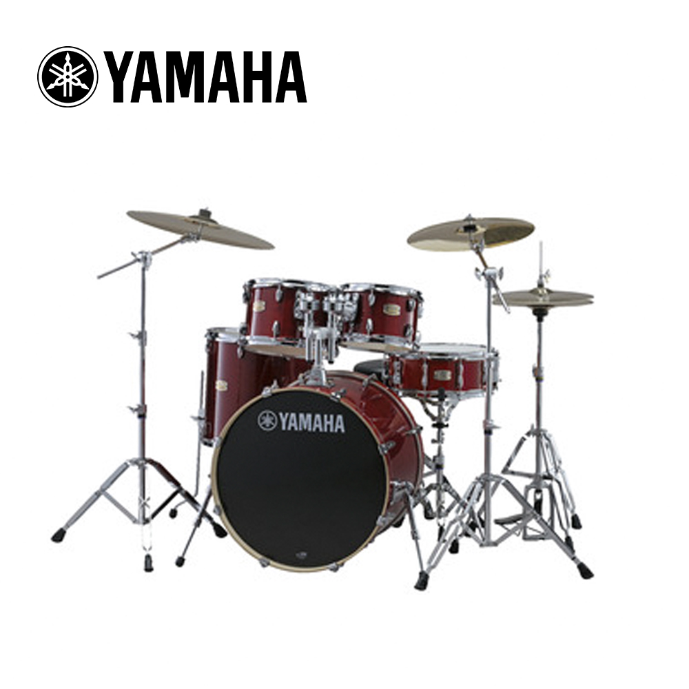 YAMAHA Stage Custom 爵士鼓組 酒紅木紋色款
