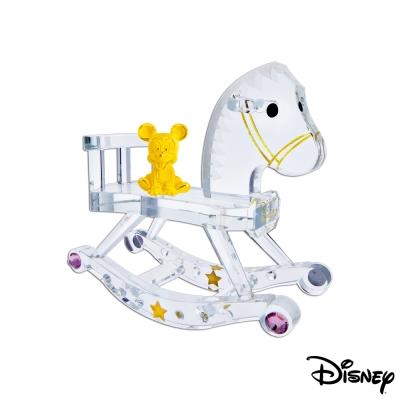 迪士尼金飾 木馬米奇黃金/水晶擺件
