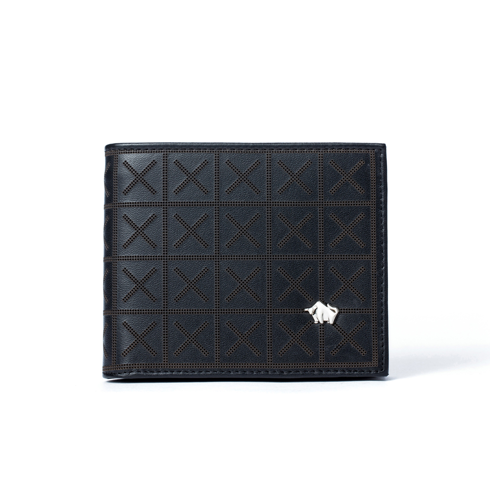DRAKA 達卡 - 極品布雅德幾何系列 -真皮短夾-3412