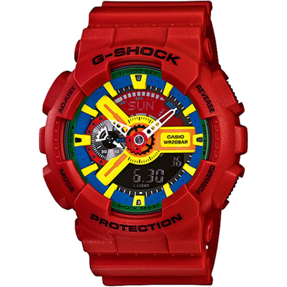 CASIO卡西歐G-SHOCK樂高玩色電子錶-紅51mm