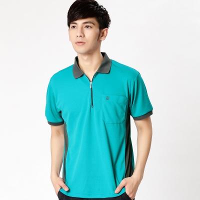 【遊遍天下】MIT台灣製男款抗UV涼爽吸濕排汗機能POLO衫SV 037 綠